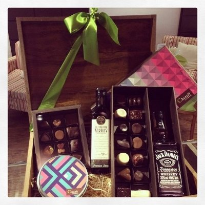 Cesta Bourbon - Whisky, Azeite e Chocolate