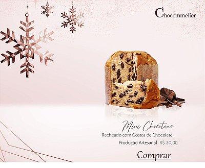Mini Chocotone Recheado com Gotas de Chocolate