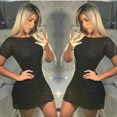 Vestido de trico manga curta