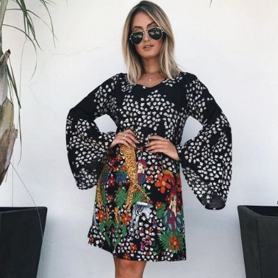 Vestido Manga Longa Africa