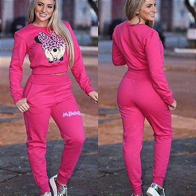 Conjunto de Moletom Minnie Pink