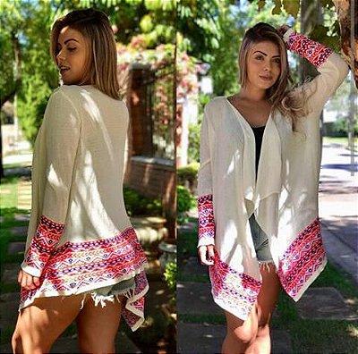 Kimono Tricot Off White