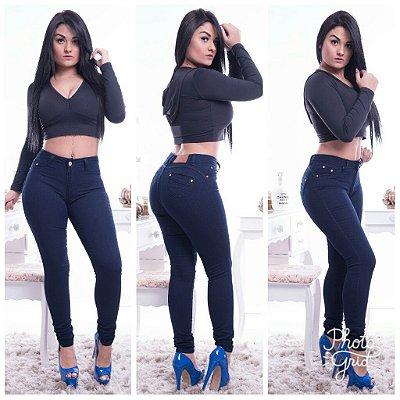 Calça jeans com elastano escura