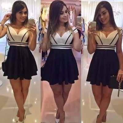 Vestido Boneca Bicolor