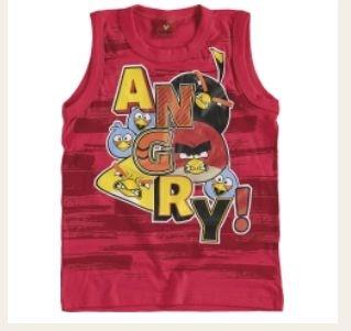 Camiseta infantil regata Angry Birds