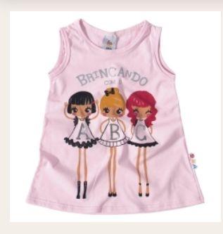Camiseta infantil estilo nadador meninas ZigZigZaa