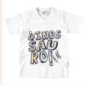 Camiseta infantil masculina Dinossauro