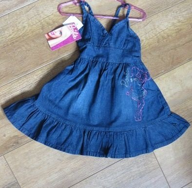 Vestido jeans infantil Barbie