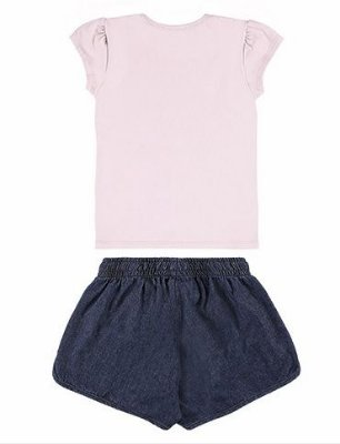 Conjunto infantil blusa e short Alakazoo