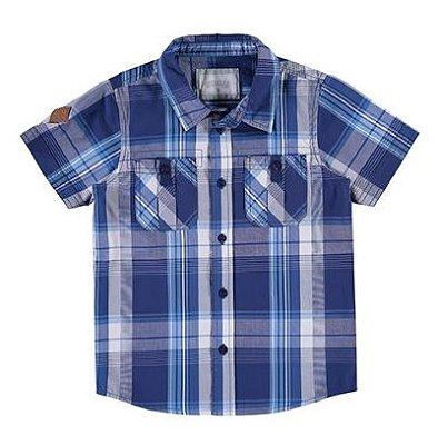 Camisa listrada infantil azul Alakazoo