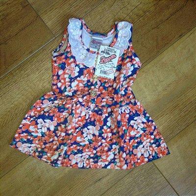 Vestido cotton estampado flores_bebê