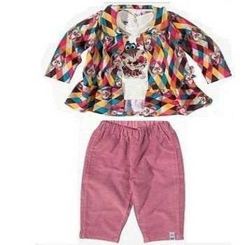 Conjunto 3 peças ZigZigZaa_calça, camiseta e casaco_bebê