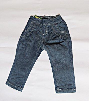 Calça jeans infantil com strass no bolso traseiro