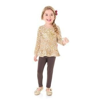 Conjunto infantil Kylly cotton  legging e bata