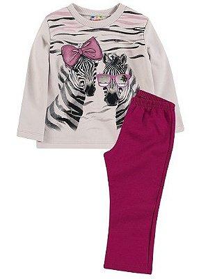 Conjunto peluciado Brandili Club Zebra