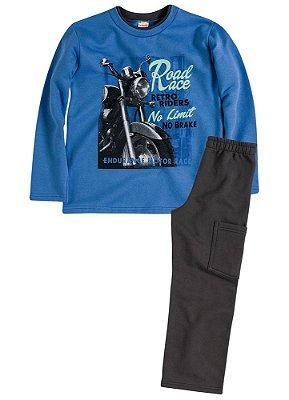 Blusão e calça masculina infantil Brandili Club forrado  moto