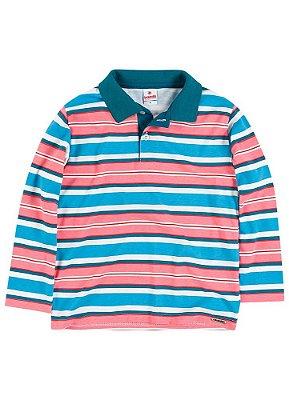 Camiseta polo infantil manga longa Brandili