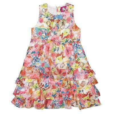Vestido em chiffon floral Premium