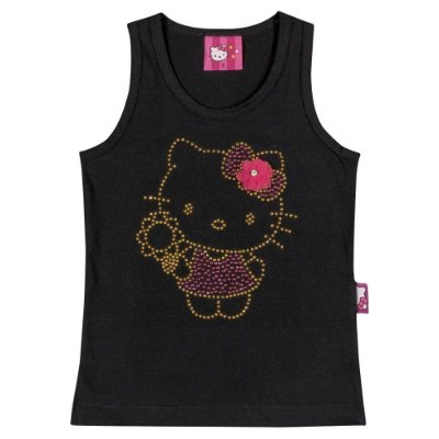 Camiseta infantil regata cotton light Hello Kitty