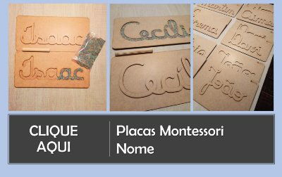 Placas Montessori Nome