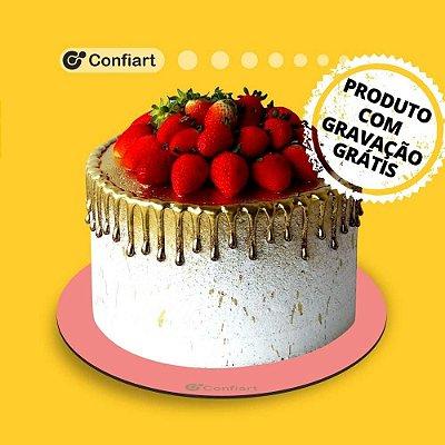 Cake board redondo rosa 3mm