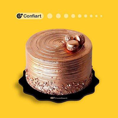 Cake board ondulado preto 3mm