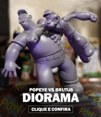 Diorama Popeye vs Brutus