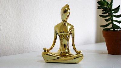 Estatua Meditação Gold