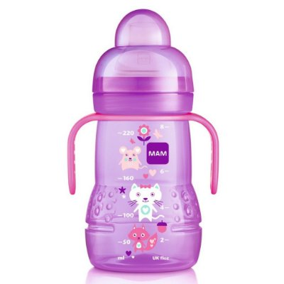 Copo MAM Trainer+ Girls 220ml - Lilás
