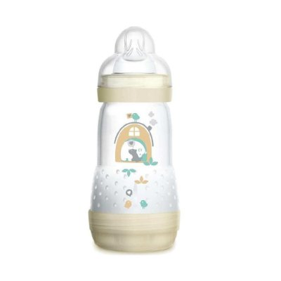 Mamadeira MAM 260ml First Bottle Bege - 2m+