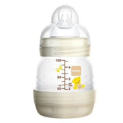 Mamadeira MAM 130ml First Bottle Bege - 0m+