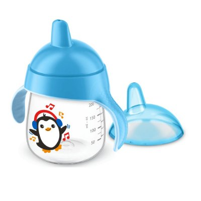 Copo Pinguim Philips Avent 260ml Antivazamento - Azul