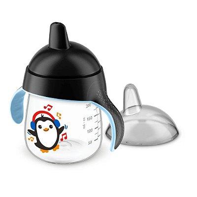 Copo Pinguim Philips Avent 260ml Antivazamento - Preto