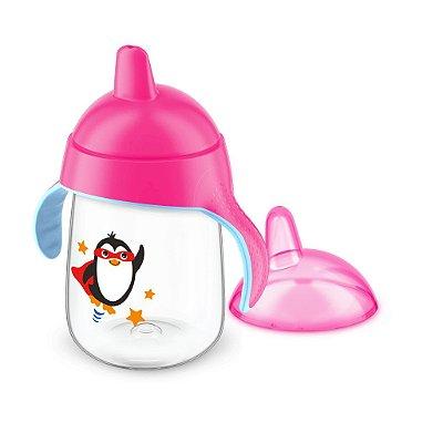 Copo Pinguim Philips Avent 340ml Antivazamento - Rosa