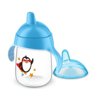 Copo Pinguim Philips Avent 340ml Antivazamento - Azul