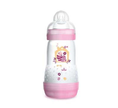 Mamadeira MAM 260ml First Bottle Rosa - 2m+