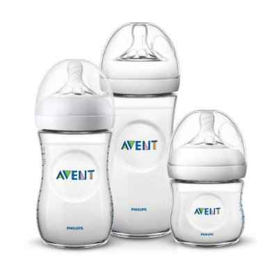 Kit 3 Mamadeiras Avent Philips Pétala 125ml, 260ml e 330ml
