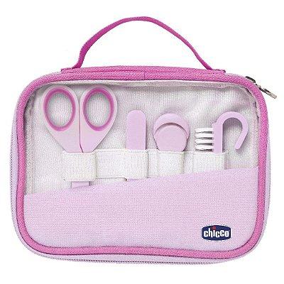 Kit Higiene e Cuidados do bebê Manicure Completo Rosa Chicco