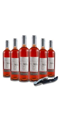 Compre 6 Vinhos Fino Rosé Seco - Quinta do Herval e ganhe um saca-rolhas