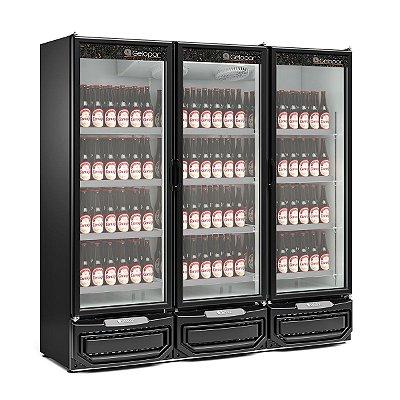 Refrigerador Vertical Para Cervejas ou Carnes 1458 Litros 3 Portas Vidro  Gcbc-1450PR- Gelopar
