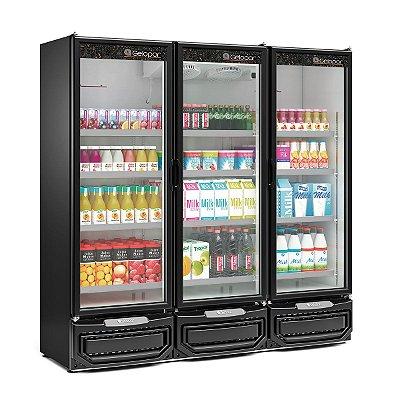 Refrigerador Vertical Conveniência 4 Portas - GCVR-1450PR - GELOPAR