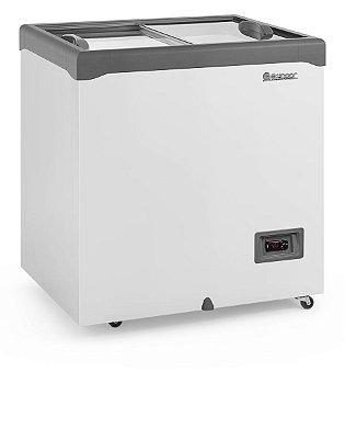 Freezer Conservador Horizontal Tampa de Vidro Com iluminação 220 litros GHD-22E L CZ- Gelopar