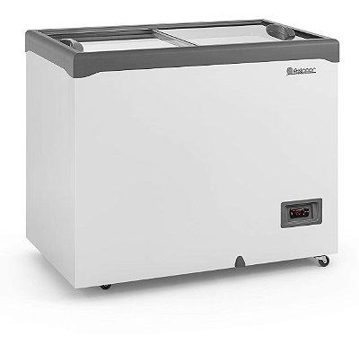 Freezer Conservador Horizontal Tampa de Vidro Com iluminação 310 litros GHD-31E L CZ- Gelopar