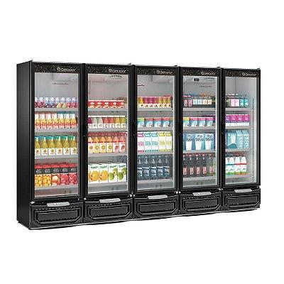 Refrigerador Vertical Conveniência 5 Portas - GCVR-2500PR - GELOPAR