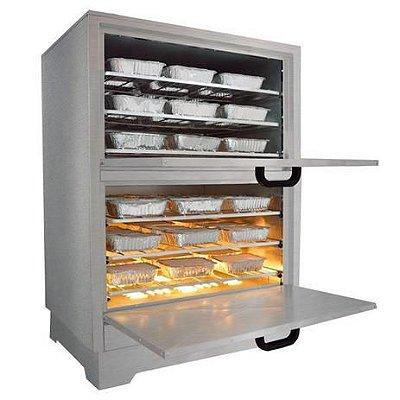 Estufa Marmiteira Alimentos Inox 66x55x92 cm EM 54L 127v Metalmaq