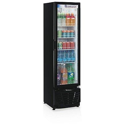 Refrigerador de bebidas vertical preto porta de vidro 228 litros - GPTU-230PR - Gelopar