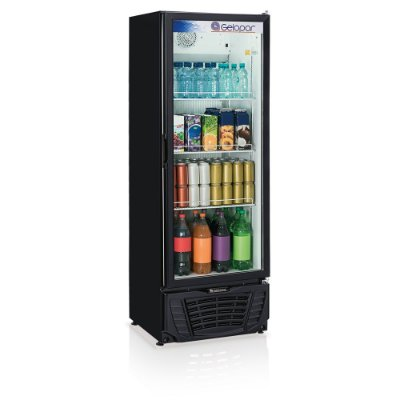 Refrigerador de bebidas vertical preto porta de vidro 414 litros GPTU-40 PR Gelopar