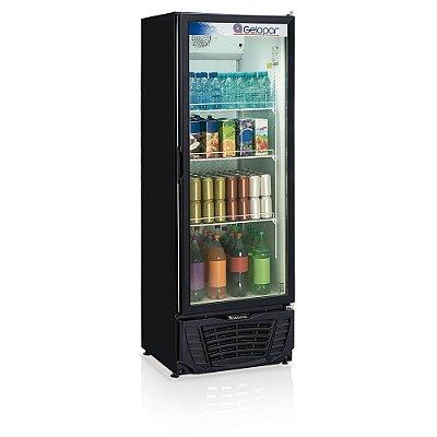 Refrigerador de bebidas vertical preto com serpentina aletada porta de vidro 578 litros - GPTU-570AF PR - Gelopar