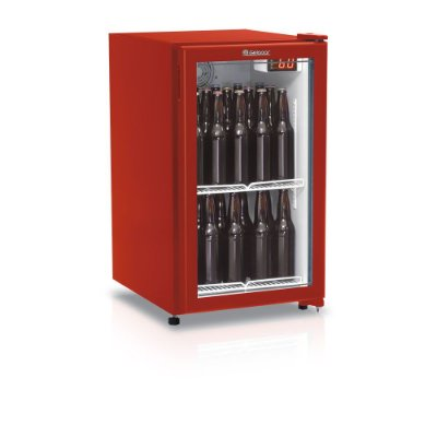 Refrigerador de bebidas cervejeira vermelho porta de vidro 120 litros - GRBA-120PVM - Gelopar