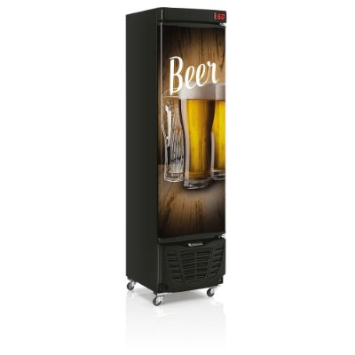 Cervejeira 230 litros - Preta Adesivada - Refrigerador de Bebidas GRBA-230WD Gelopar